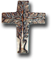 photo of a silver cross